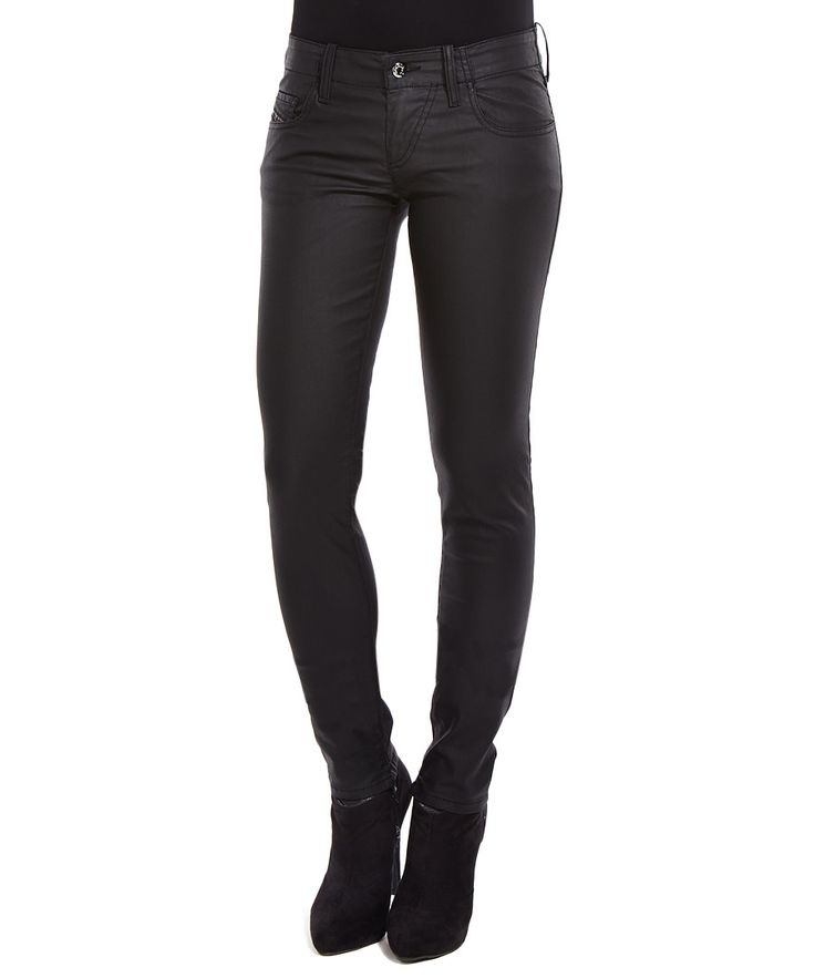 Grupee black leather effect jeans Sale - Diesel