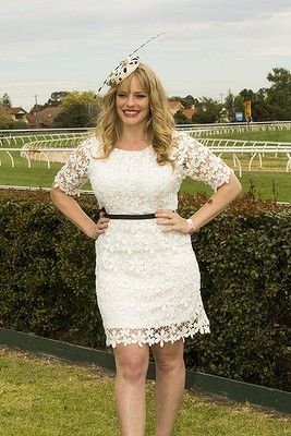 #KatherineHicks attends the Caulfield Cup Carnival day at Caulfield Racecourse on October 18, 2014 in Melbourne, Australia.