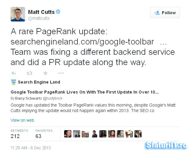 PageRank Importance is Null