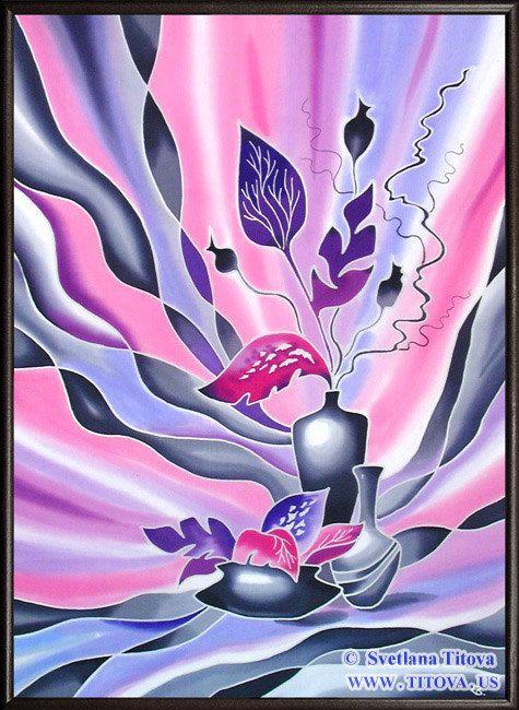 Winter Sleep. Original Silk Painting by от MagicSilkPainting