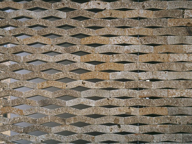 ::ARCHITECTURE:: Exterior facade detail at Chokkura Plaza in Takanezawa, Shioya-gun, Tochigi by architect Kengo Kuma