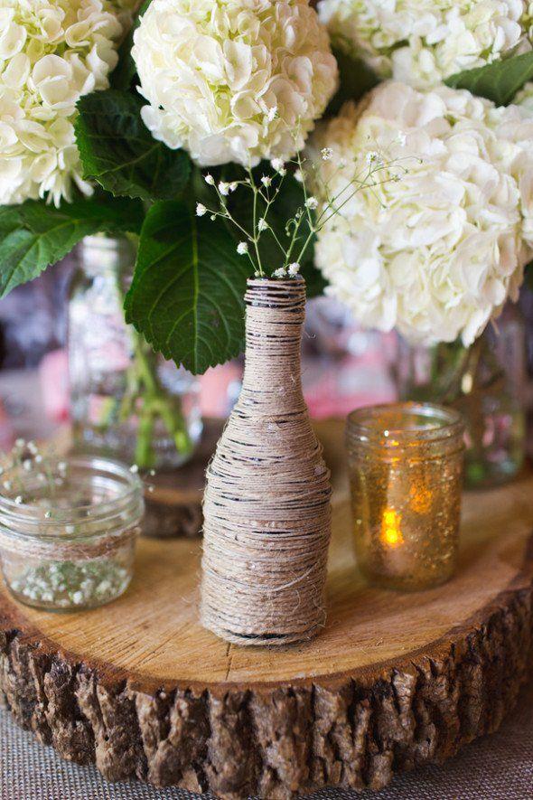 Dudley Farm Wedding. Rustic Wedding CenterpiecesWedding ...