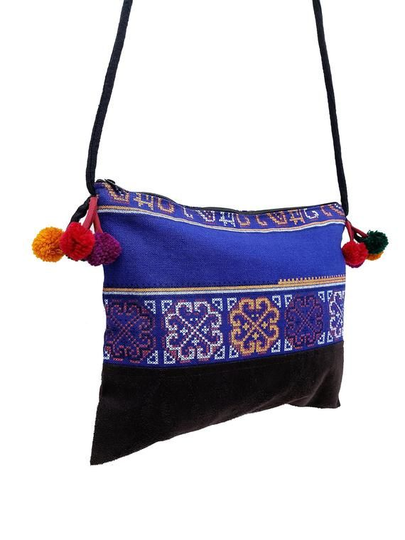Aquarius Glow in the Dark Embroidered Sling Bag