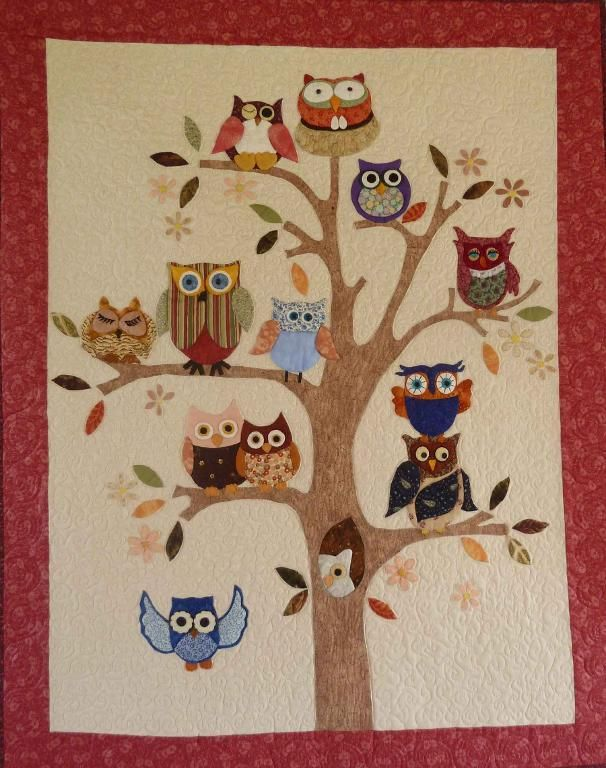 171 best Animal Quilts images on Pinterest | Animal quilts ... : owl applique quilt pattern - Adamdwight.com