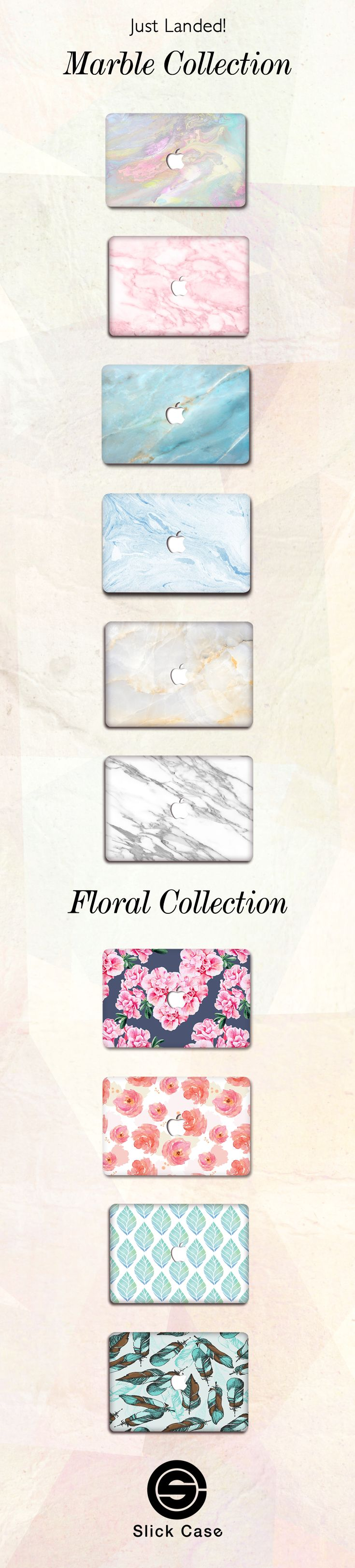 New Floral & Marble  MacBook Case Cases! Click on the link here to check all these Marble & Floral designs out: