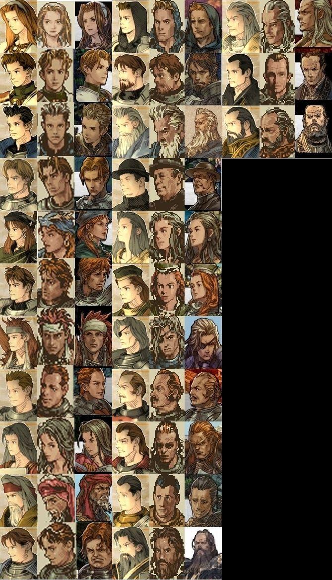 Faces...SFC/PSP Tactics Ogre