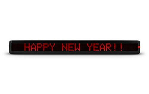 Lightcraft Times Square XXL Panneau publicitaire lumineux programmable (840 LED rouges, longueur 95 cm, message défilant, 99 mémoires…