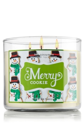 Bath and Body Works candles - Merry Cookie, Peppermint Mocha, Frosted Gingerbread, Leaves, and Frosted Cranberry