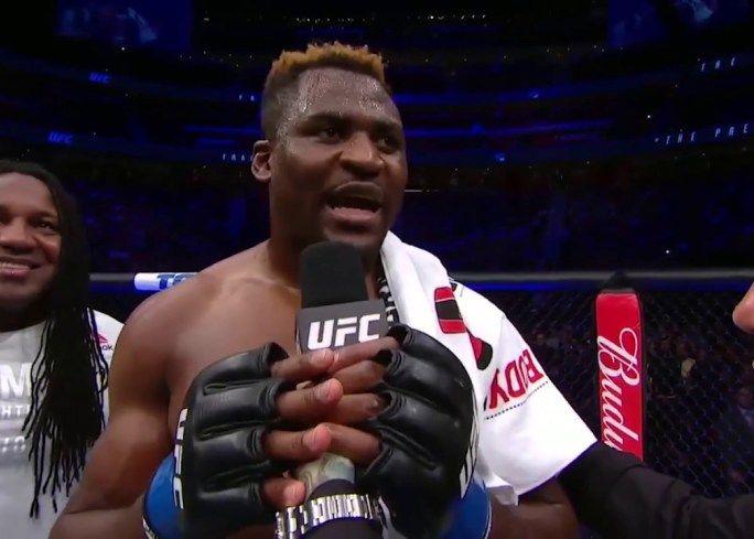 UFC 218: Francis Ngannou Octagon Interview