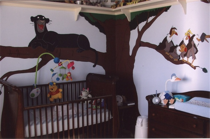 This was my son's Jungle Book nursery. A LOT of painting when you are really pregnant.