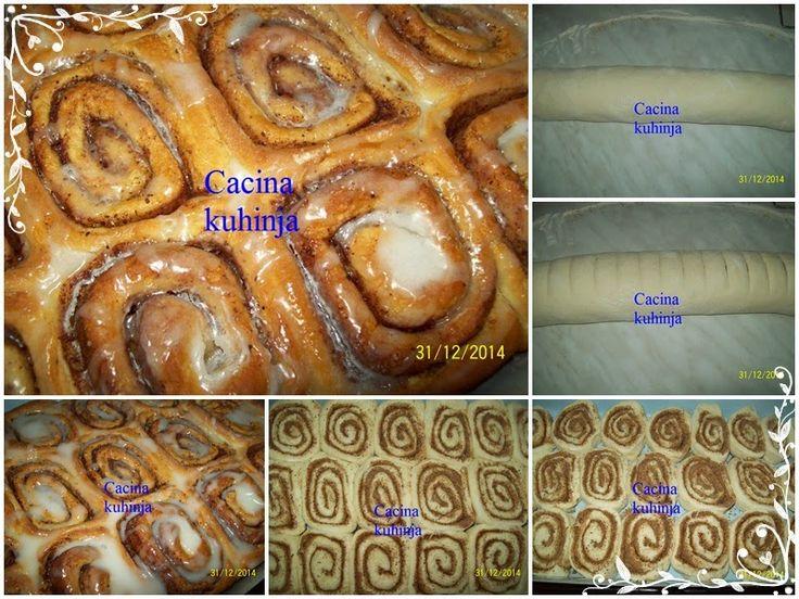 Cacina kuhinja: Posne cimet rolnice / Cinnamon rolls