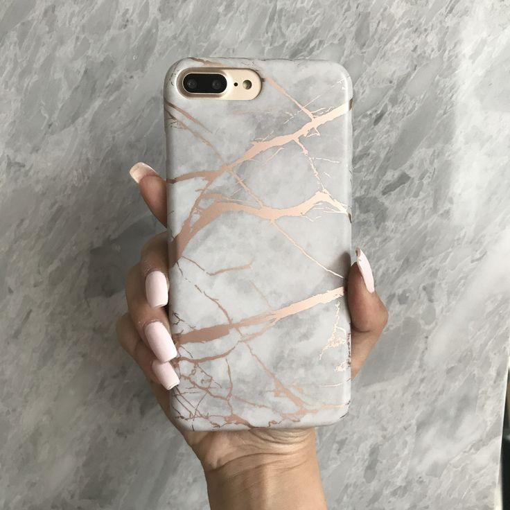 White Marble Rose Gold Chrome Iphone Case M Y P H O N