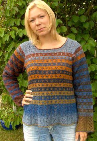 Anne - Evilla  Design Ruth Sørensen  2 forskjellige farger Evilla Kunstgarn 8/2 eller Kauni.