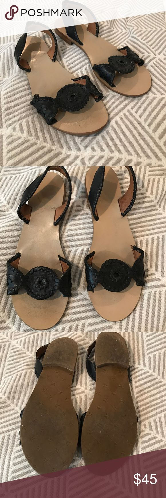 Jack Rogers Black Liliana Slingback Sandals These black Jack Rogers Liliana slingback sandals are gently used and so cute! Perfect for your spring and summer wardrobe!! Jack Rogers Shoes Sandals