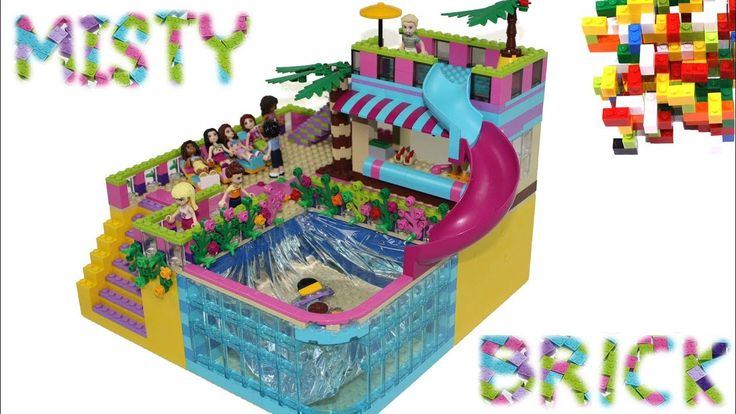 Lego friends small swimming pool 2 by misty brick lego