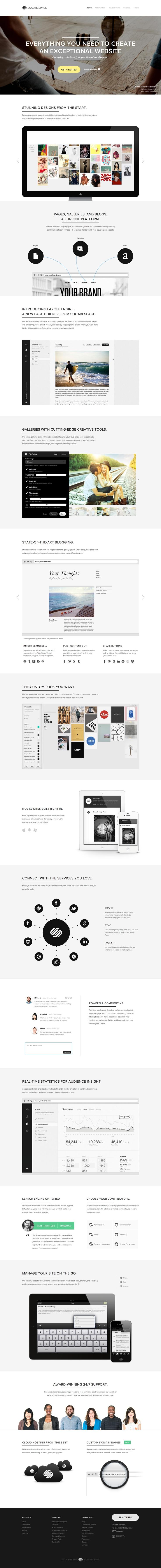 シンプルの極み。情報が染み込むように読める。いいデザインです。Squarespace
