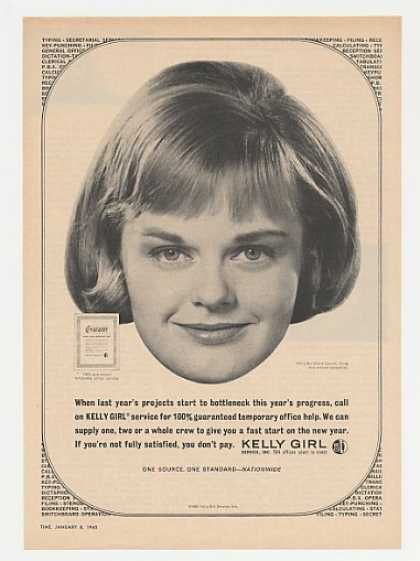 Kelly Girl Temp Service Diane Carroll Photo (1965)