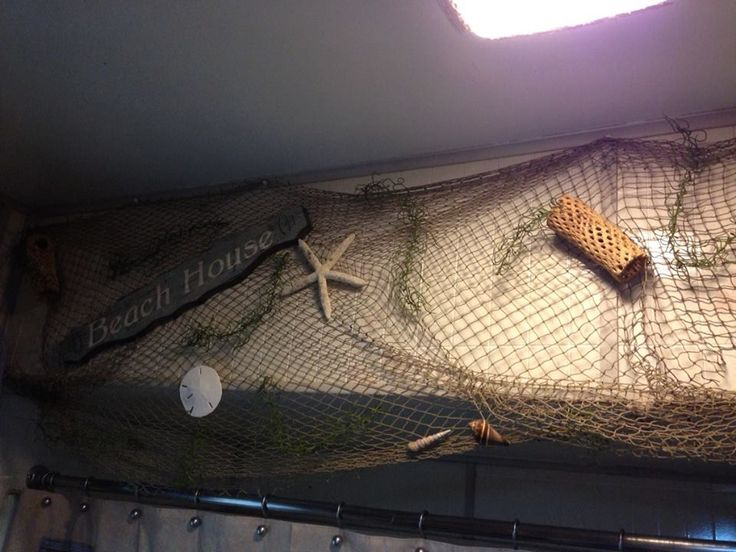 Fishing net decor bags purses pinterest for Fishing bedroom decor