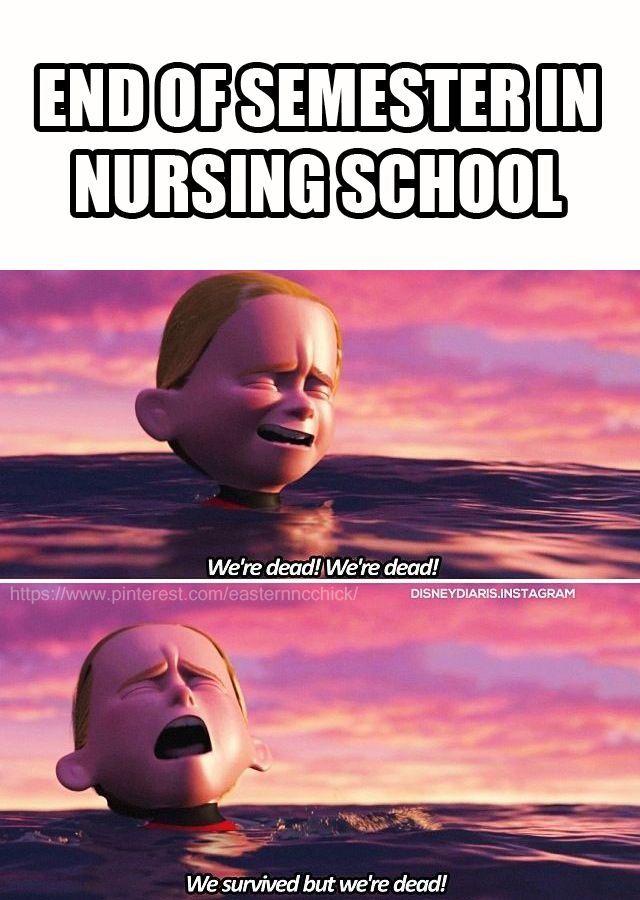 Nursing school end of semester funny