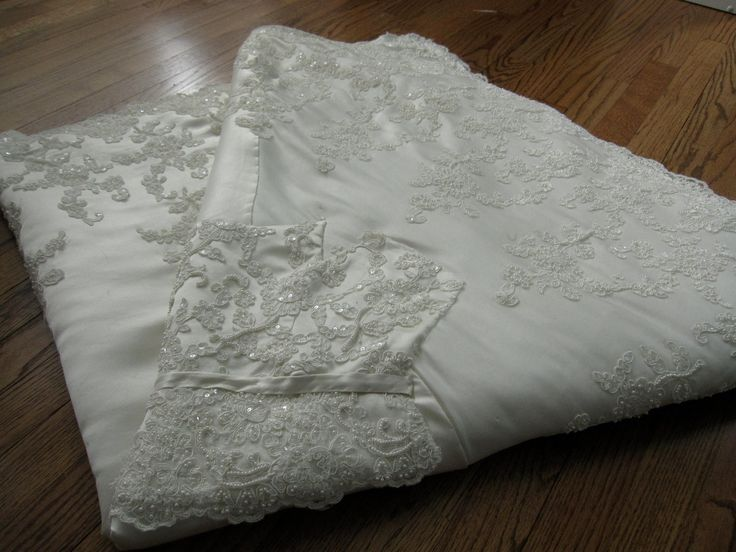 Wedding dress quilt- turn your wedding dress into a quilt