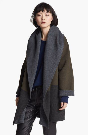 Vince Hooded Colorblock Coat available at #Nordstrom