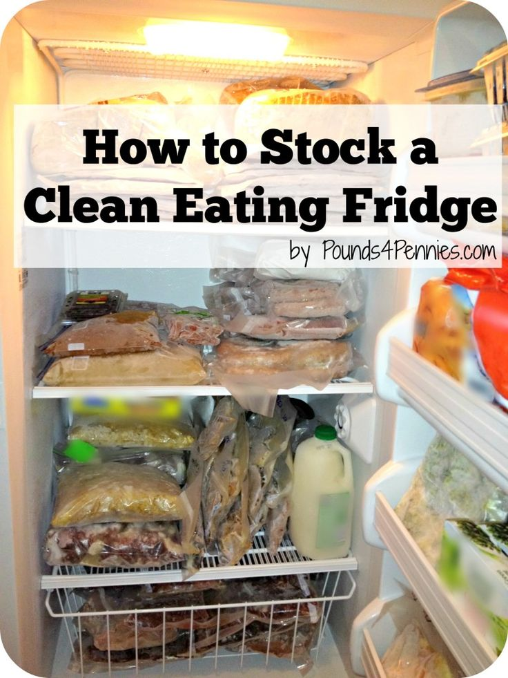Learn how to stock a clean eating fridge to get you on the right path to clean eating. List of items to replace with clean eating options to get started.