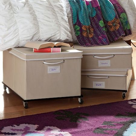 Rolling Storage Bins For Dorm Rooms