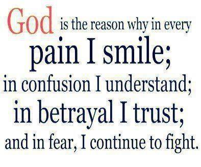 God is the reason Amen