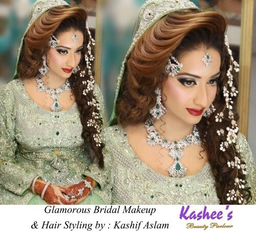 North Bridal Hairstyles With Flowers : 103 best kashees glamorous hair styling. images on pinterest