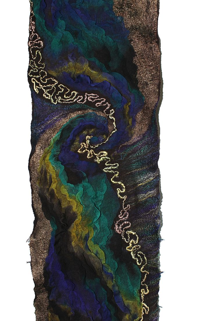 Nuno Felted Textured Scarf | by FeltedPleasure