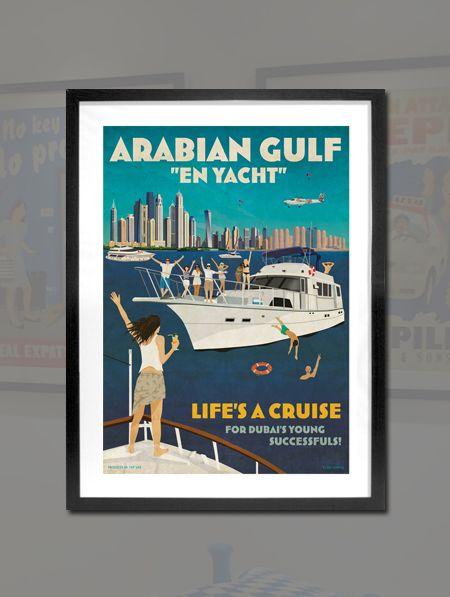 [Clare Napper] Life a Cruise  아라비아만 그리고 요트  요트를 타고 즐기는 두바이 시민의 여유가 느껴지는 작품