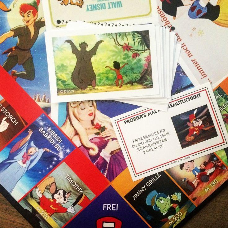 Monopoly Disney Classics - Bibbidi Babbidi Bu- und Probier´s mal mit Gemütlichkeit-Karten ersetzen die Gemeinschafts- und Ereigniskarten! Sammle die berühmtesten und beliebtesten Disney Charaktere!