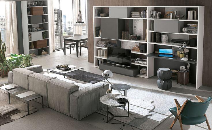 Parete attrezzata Atlante C152 per il #soggiorno | gruppotomasella.it