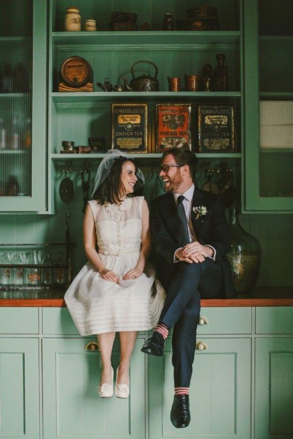 Vintage-inspired wedding / Bride wore BHLDN / #BHLDNbride