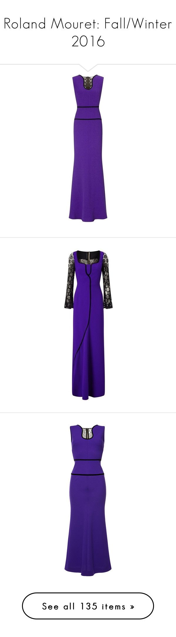 """""""Roland Mouret: Fall/Winter 2016"""" by livnd ❤ liked on Polyvore featuring RolandMouret, fallwinter2016, livndfashion, livndrolandmouret, dresses, gowns, trumpet gown, midi dress, blue ball gown and midi evening dresses"""