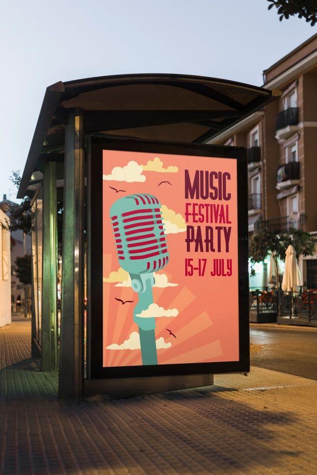 Download Bus Stop Billboard Mockup For Free Com Imagens