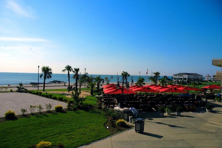 Boardwalk & Beach from Ocean Place Resort & Spa, Long Branch, NJ