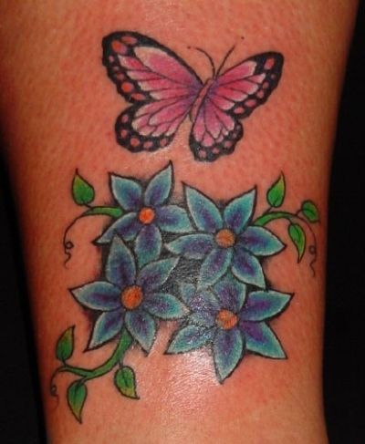 76 best butterfly and flower tattoos images on pinterest rose tattoos tattoo ideas and tattoo. Black Bedroom Furniture Sets. Home Design Ideas