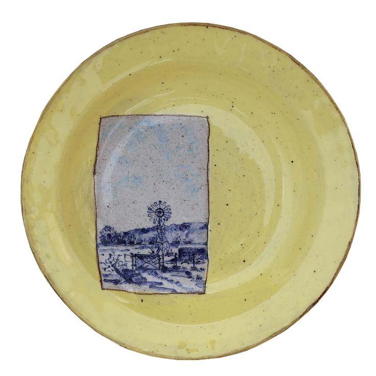 An original ceramic work by Lisa Ringwood entitled: 'Karoo Plate VIII', ceramic, d 24cm For more please visit www.finearts.co.za #ceramic #LisaRingwood #Ceramicist #SouthAfricanArt #SouthAfricanArtist #ChineseCeramics #InteriorDesign #Decor #Decoration #Landscape #Fauna #Flora #Birdlife #VOCware #Karoo