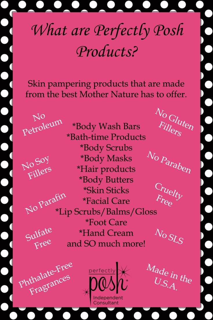 Haven't heard of Perfectly Posh? Perfectly Posh is a line of natural based pampering products free of parabens, petroleum derived ingredients, no soy or gluten fillers, made in the USA and cruelty free. I do in home spa nights to pamper you and your friends and it's an amazing business opportunity with a company that is growing fast and actually cares about us. Www.perfectlyposh.com/jevans