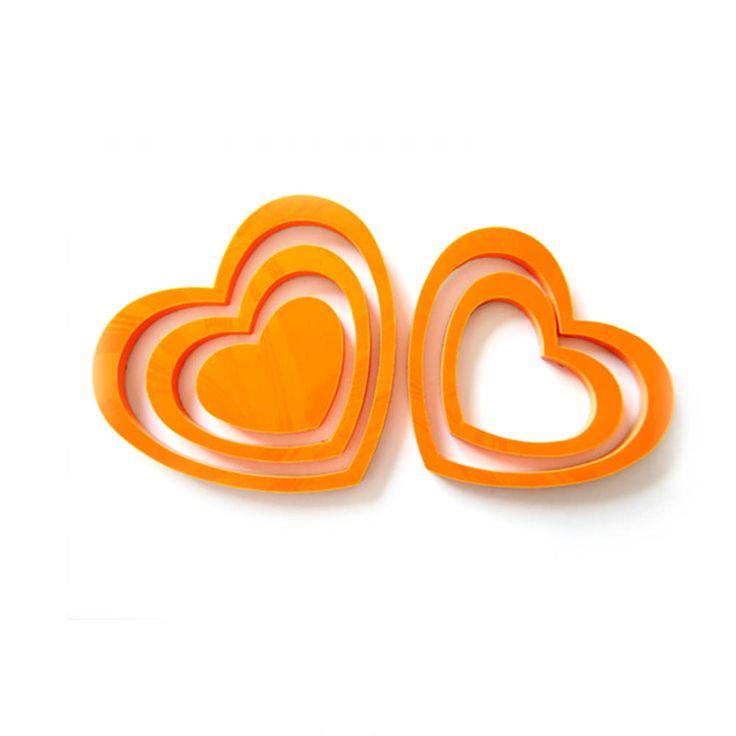 Inspirational D Herzen er Set Wandtattoo Dekoration D Deko orange