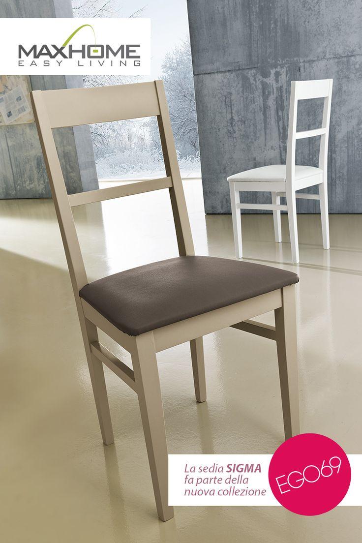 """SIGMA: La struttura in legno, snella ma robusta, incorpora la seduta di ecopelle in due colori. Una seduta """"universale"""" adatta a tutti gli ambienti metropolitani."""