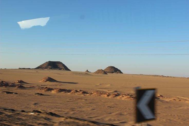 Going to Luxor - capture through the bus's wind shiel!