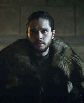 "Jon ""the white wolf"" Snow, the king in the north (6x10)"
