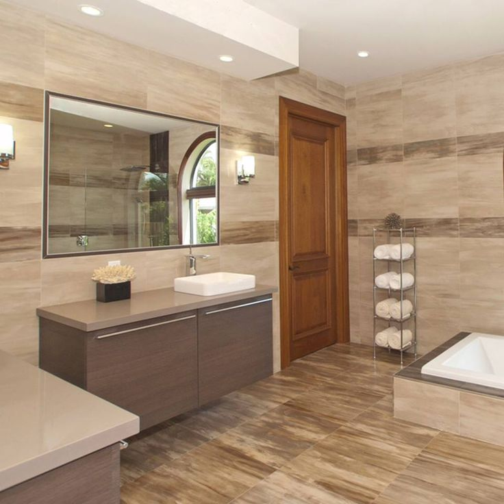 Neutral colors are synonymous of elegance. If we use a variety of tones and textures and we add a Silestone Unsui countertop to it, the result is a luxury #bath like this one. Isn´t it marvelous?  Designed by Alena Capra Designs. #interiordesign #homedecor