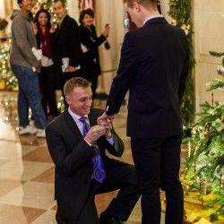Washington DC, USA: At White House, Gay Marine Asks Partner to Marry Him