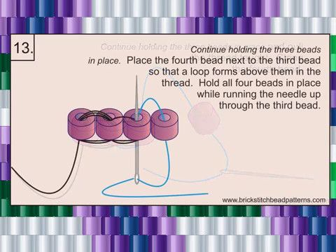 102 How To Ladder Stitch Bead Tutorial Video - YouTube  Full tutorial at http://www.brickstitchbeadpatterns.com/2017/05/how-to-ladder-stitch.html