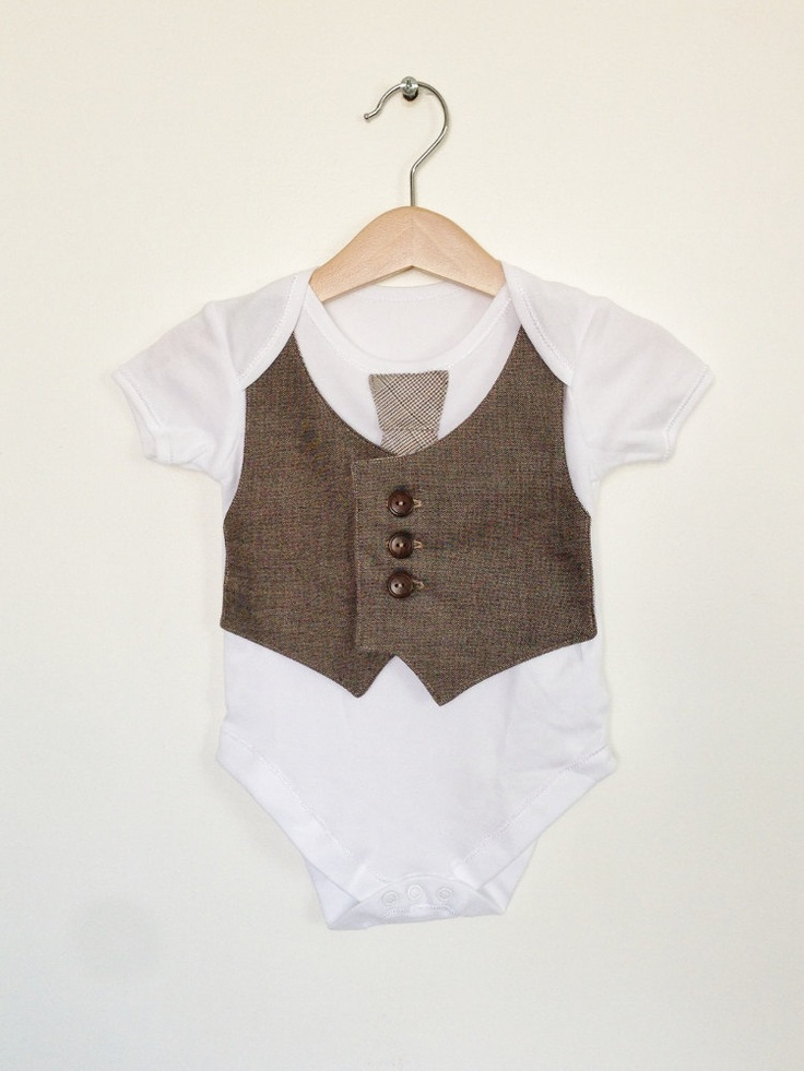 Baby boy vest and tie by ThisisLullaby