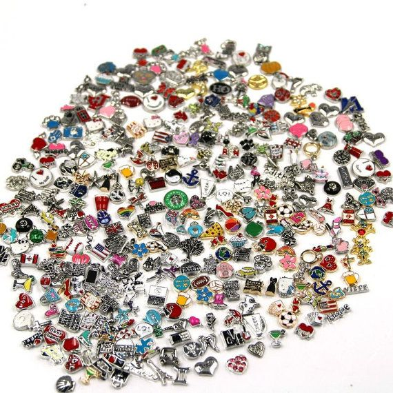 Floating Charms for Floating Lockets 35 Piece Mixed designs