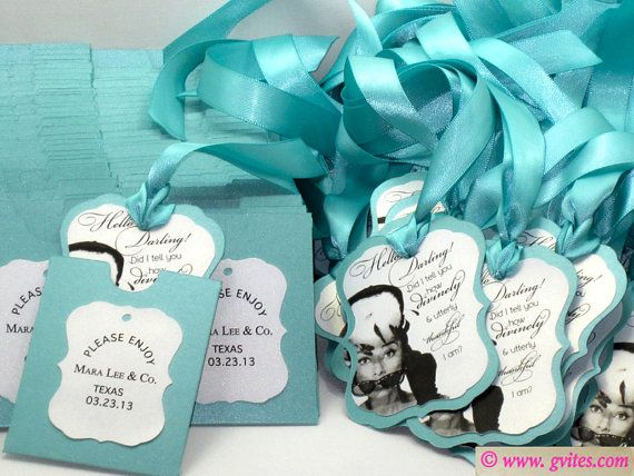 Breakfast At Tiffany S Favor Tags Audrey Hepburn Lux Favor